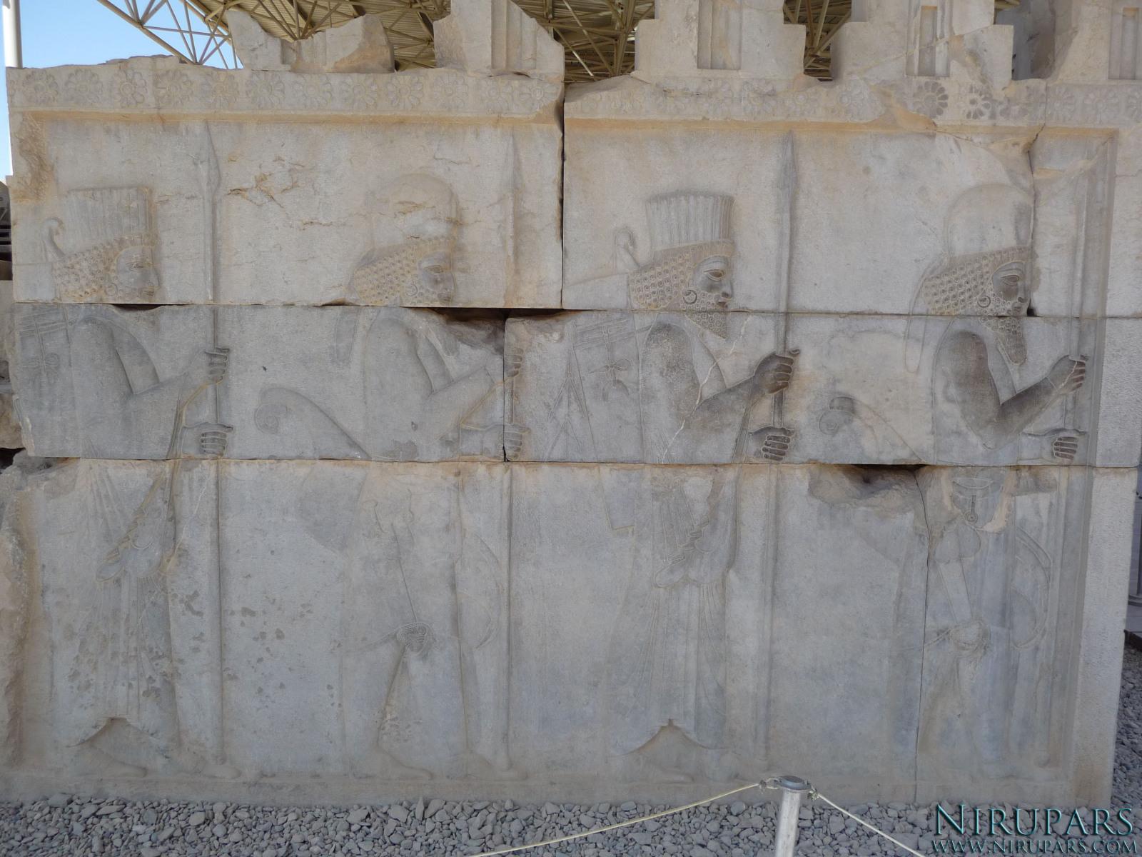 Persepolis - Council Hall Tripylon - North Portico - Relief Elite Troops