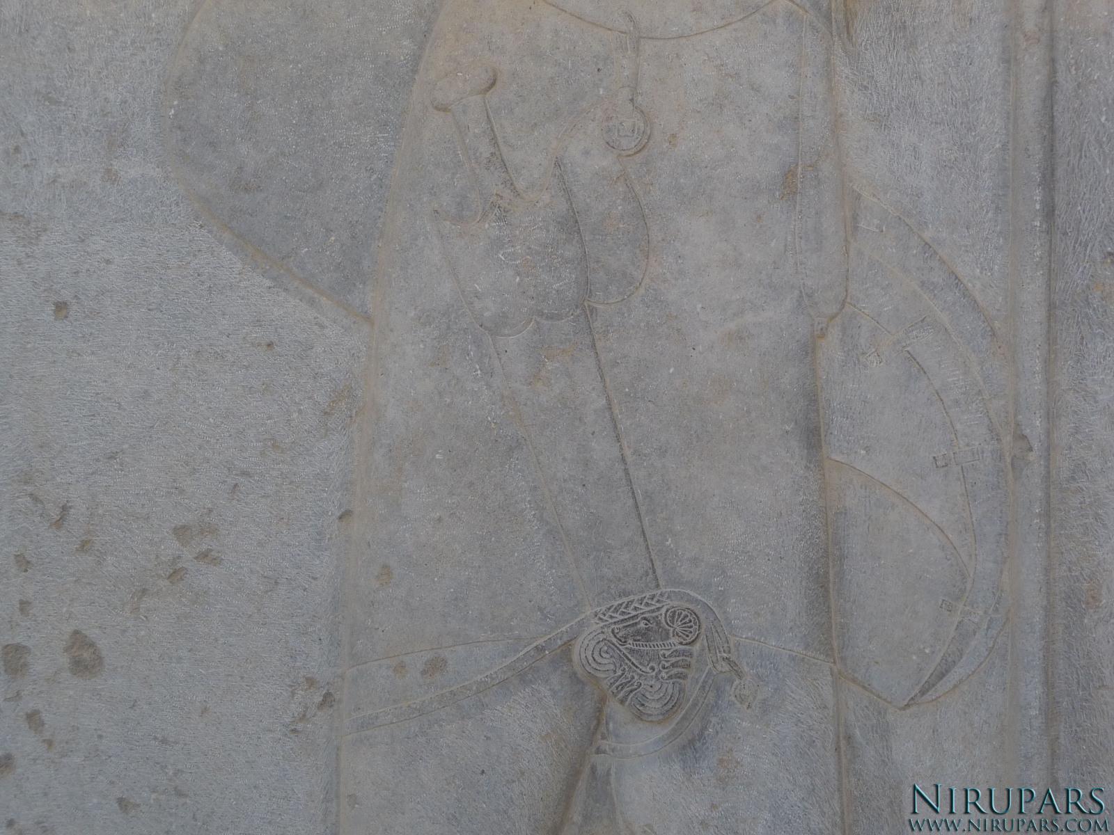Persepolis - Council Hall Tripylon - North Portico - Relief Akinakes