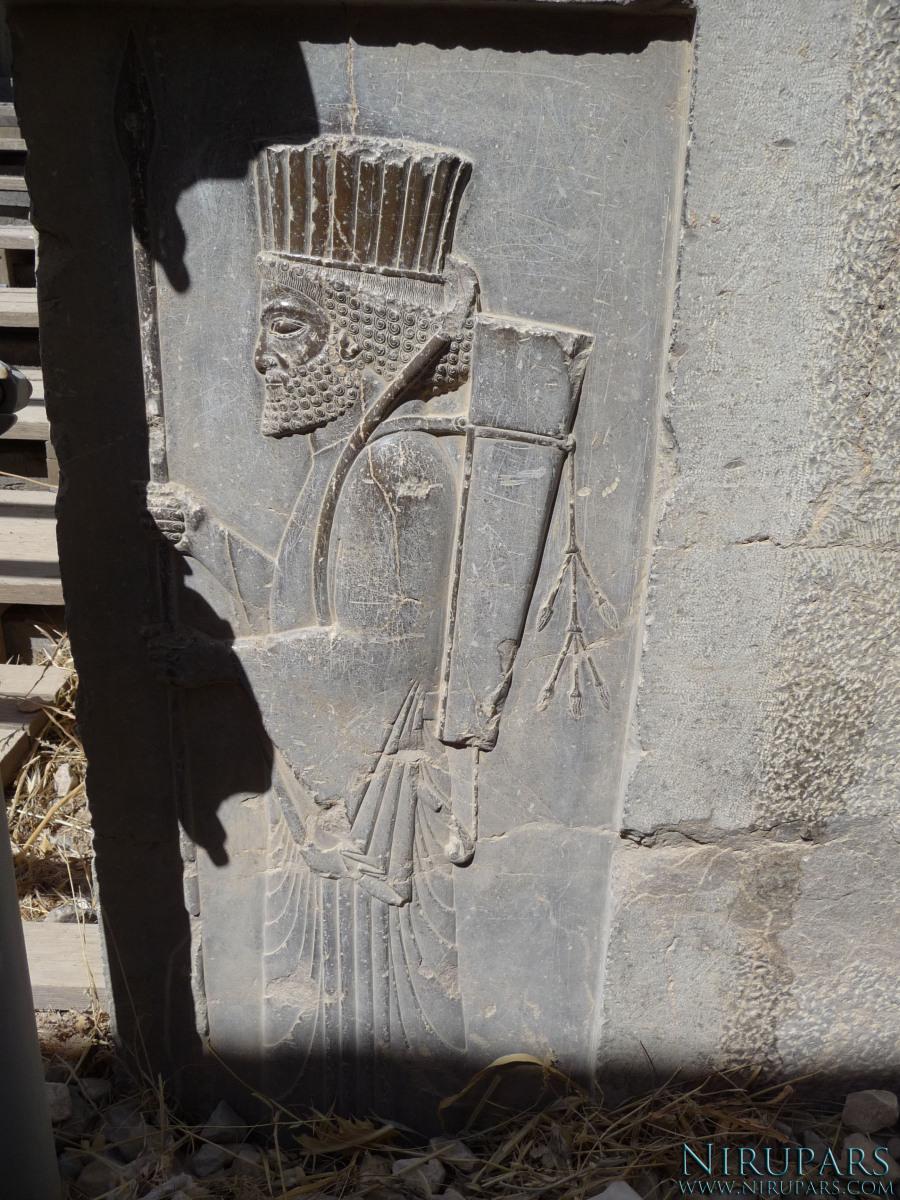 Persepolis - Darius Palace Tachara - Relief Soldier