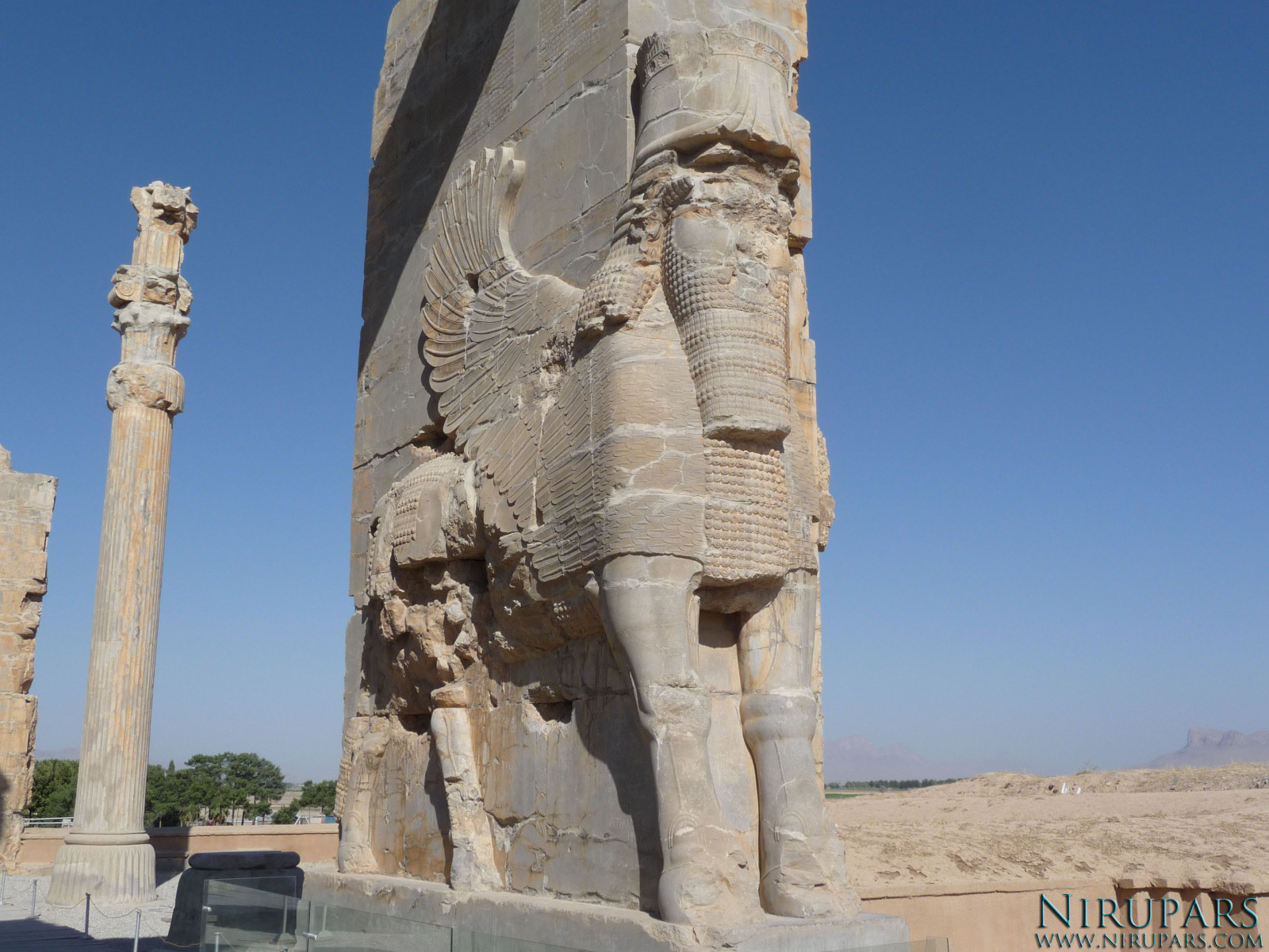 Persepolis - Gate of all Nations - Winged-Human-Bull - Eastside - Right