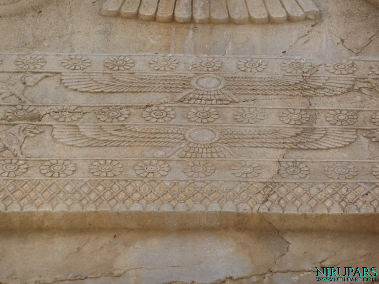 Persepolis - Hall of Hundred Columns - Relief Gate Frame - Faravahar