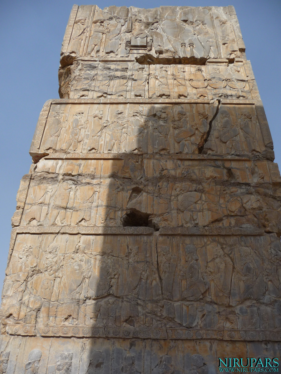 Persepolis - Hall of Hundred Columns - Relief Gate Frame - North