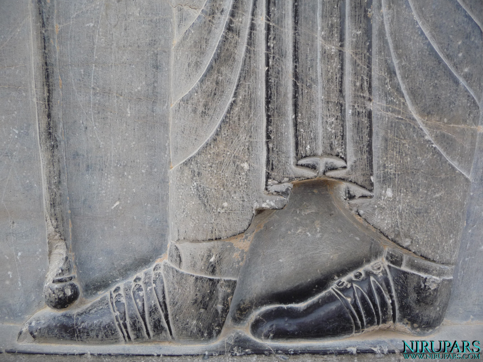 Persepolis - Hall of Hundred Columns - Relief Persian Shoe