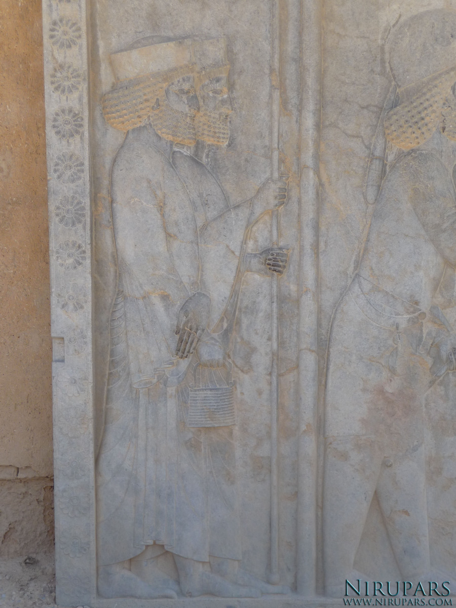 Persepolis - Relief - Throne Relief - Soldiers - Farnaka