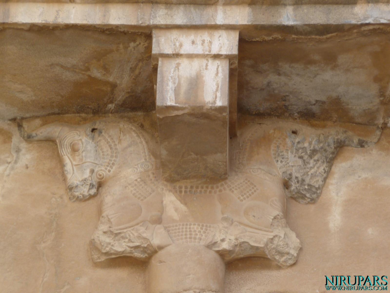 Persepolis - Tomb 1 - Relief Bull Capital