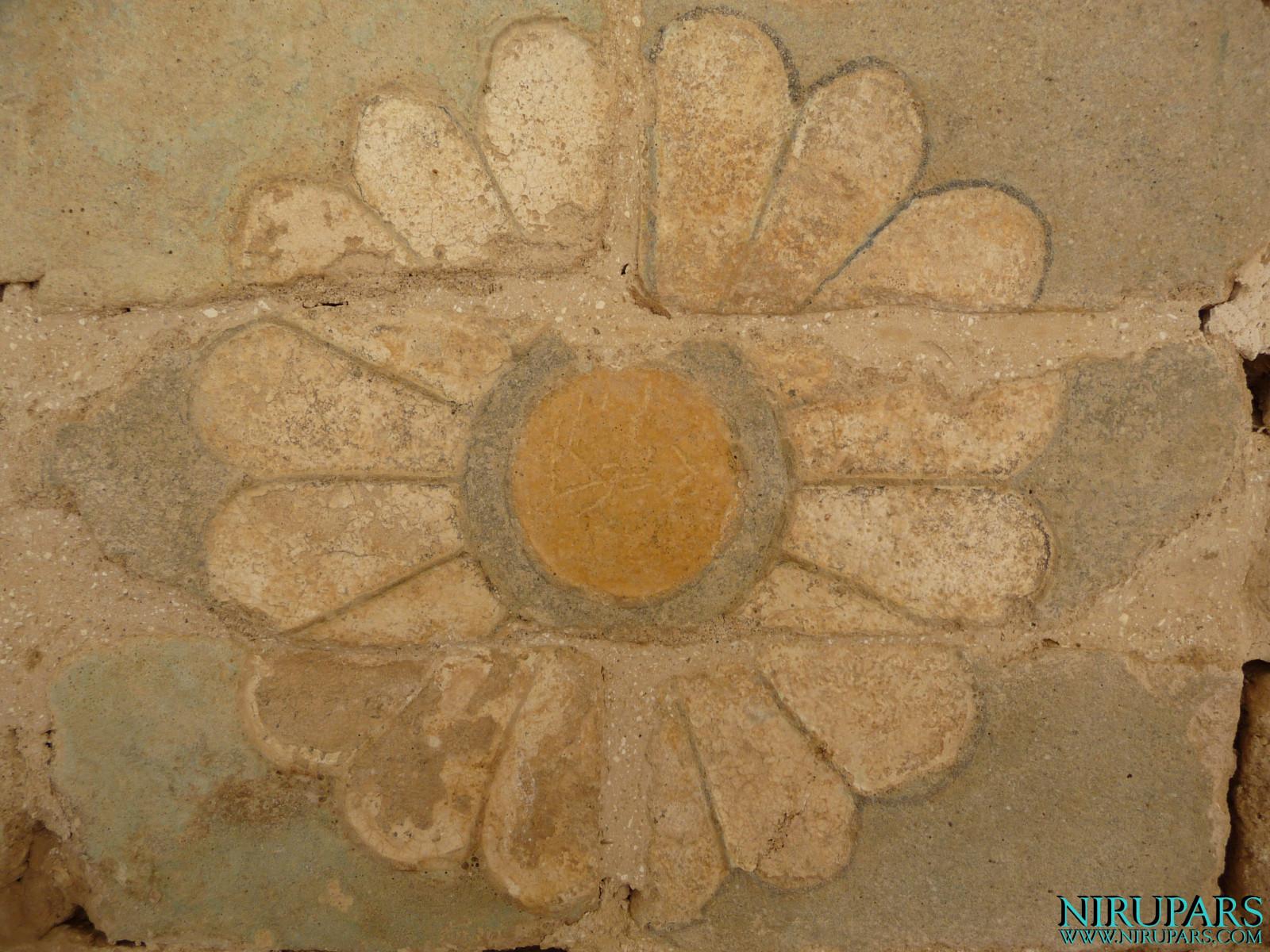 Persepolis - Wall Fragment - Original Painting - Lotus Blossom