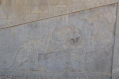 Persepolis - Apadana - East Portico - Relief Bull Lion