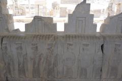 Persepolis - Apadana - East Portico - Relief Palace Troops