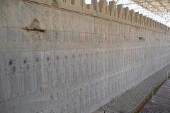 Persepolis - Apadana - East Portico - Relief Ten-Thousand Immortals