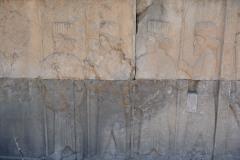 Persepolis - Apadana - North Portico - Soldiers