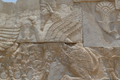 Persepolis - Relief - Entrance Xerxes Palace - Winged Human Lion