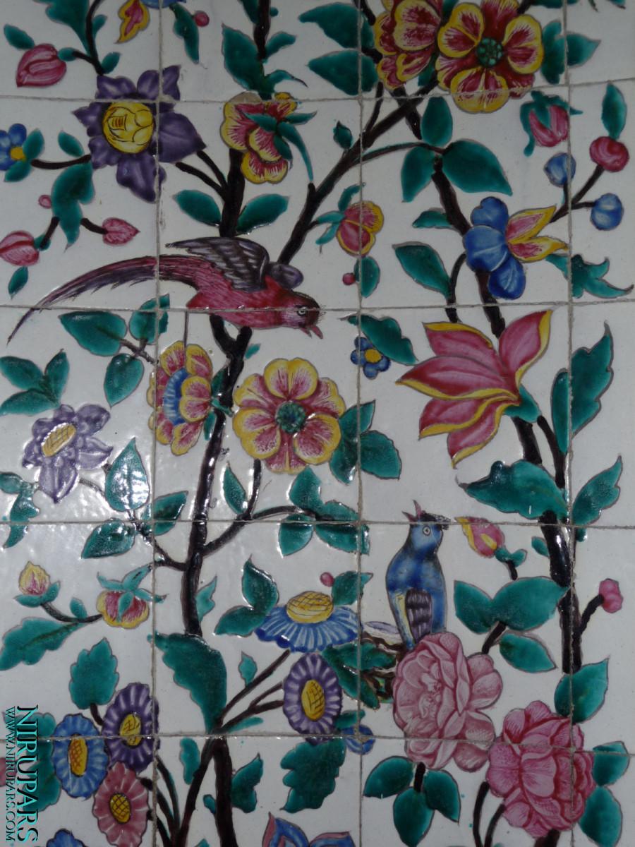 Saadieh - Mausoleum - Painted tiles