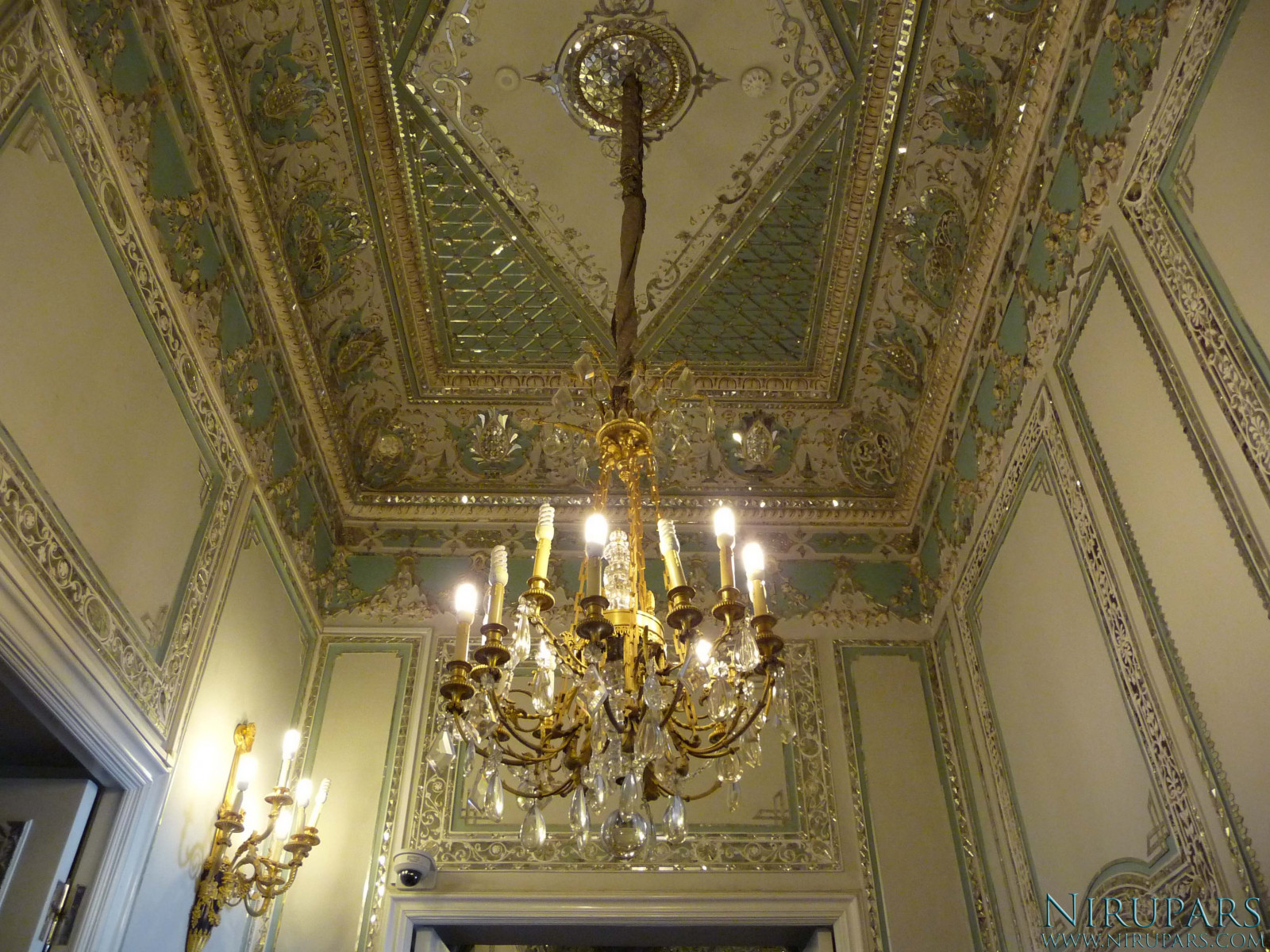 Sadabad Palace Complex - Green Palace - Ceiling
