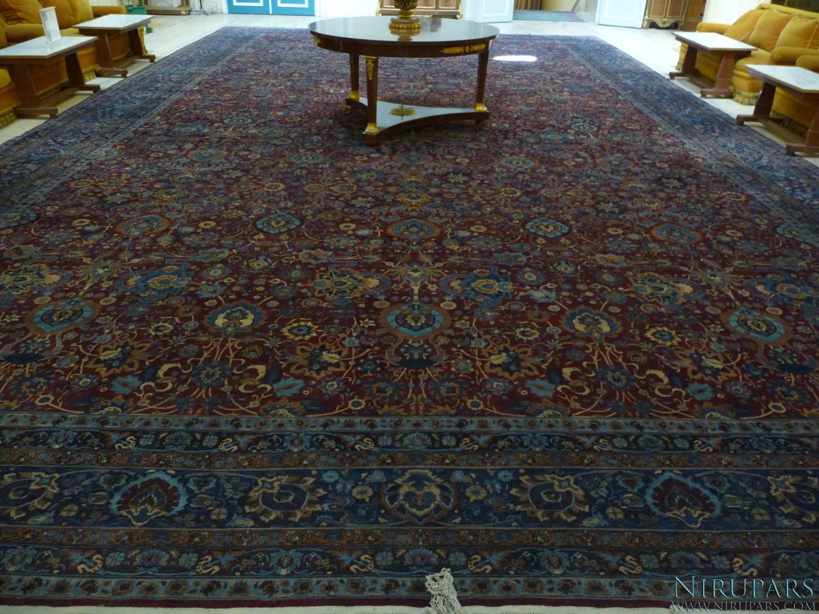 Sadabad Palace Complex - White Palace - Upper Floor - Persian Carpet