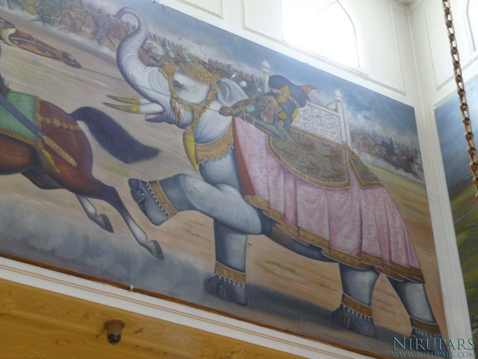 Sadabad Palace Complex - White Palace - Upper Floor - Wall Painting