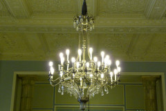 Sadabad Palace Complex - White Palace - Entrance Hall - Chandelier