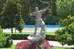 Sadabad Palace Complex - White Palace - Archer Arash Statue