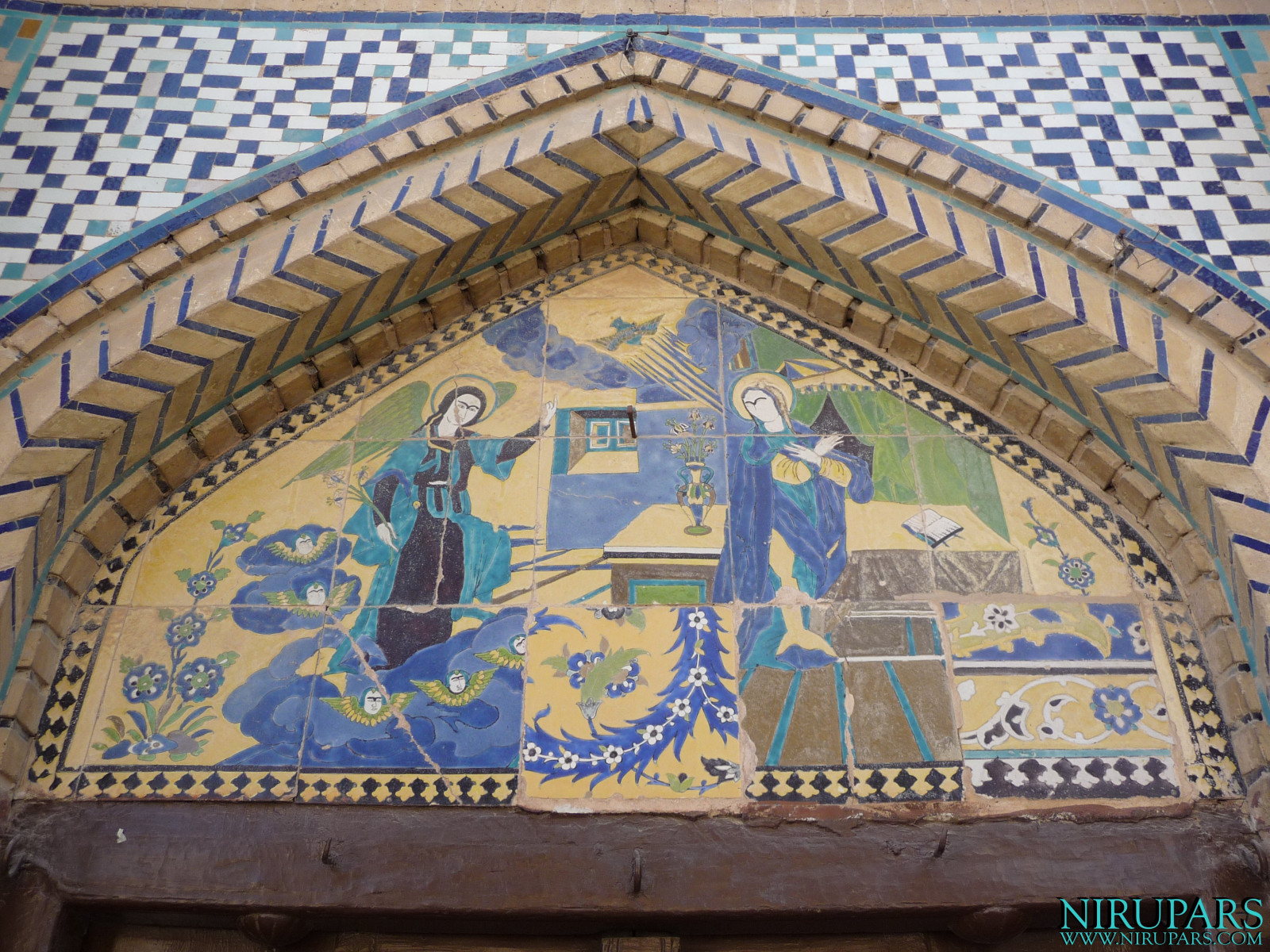 Vank Cathedral - Entrance Painting